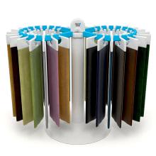 Expositor de tela Aquaclean. Un proyecto de Diseño, 3D, Br, ing e Identidad, Diseño de vestuario, Diseño industrial y Diseño de producto de Pablo Lardón - 22.02.2015