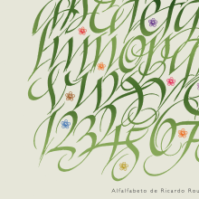 Alfalfabeto. A Calligraph project by Ricardo Rousselot Schmidt - 12.13.2011