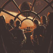 Star Wars - Poster . Um projeto de Ilustração, Cinema, Vídeo e TV e Serigrafia de Juan Esteban Rodríguez - 10.06.2015