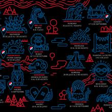 Pepsi Music Fest. Un proyecto de Ilustración, Publicidad, Br e ing e Identidad de Juan Díaz-Faes - 30.06.2015