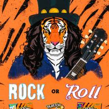 Tigretón- Rock or Roar. Um projeto de Ilustração de d_velas92 - 30.06.2015
