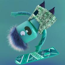 Lego Skaters. Un progetto di Design, Illustrazione, 3D, Direzione artistica , e Graphic Design di Víctor Montes - 07.07.2015