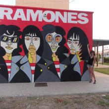 Mural RAMONES Murcia (Los Alcázares ). Un proyecto de Pintura de Pachucho Madrid - 25.07.2015