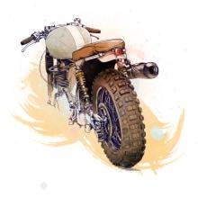 Cafe Racer Bikes. A Illustration project by Óscar Lloréns - 29.07.2015