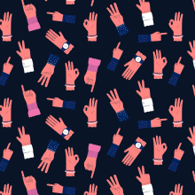 All Hands Pattern. A Illustration project by ana seixas - 01.05.2015