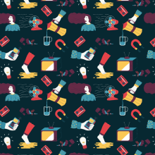 Bad Mood Pattern. A Illustration project by ana seixas - 01.06.2015