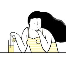 Limonada - Serigrafía para Nham Nham. A Illustration, and Screen-printing project by ana seixas - 12.14.2014