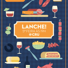 Lanche na Cru - Cartel. A Illustration project by ana seixas - 03.14.2015