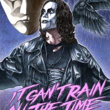 """""""it can't rain all the time"""" The crow poster tribute. Um projeto de Design, Ilustração, Direção de arte e Cinema de Fernando Martín Antón - 22.08.2015"""