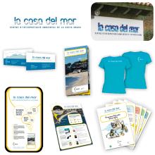 Identidad corporativa - La casa del mar. Um projeto de Br, ing e Identidade e Design gráfico de Ferran Sayerza Mercader - 06.07.2013
