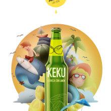 Cerveza KEKU con Limón!!. Un projet de Illustration , et Publicité de Ricardo Martínez López - 16.09.2015