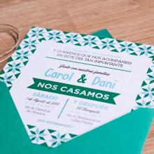 Invitaciones de Boda para Carol & Dani. Um projeto de Design gráfico de Sara Palacino Suelves - 19.09.2015