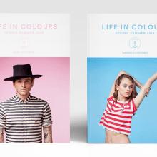 Catálogo Ewan —  SS'16 Life in Colours. Um projeto de Direção de arte, Design de vestuário e Design editorial de Rubén Montero - 22.09.2015