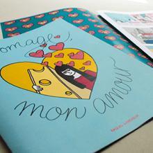 """Fromage, mon amour - Taller """"Narrar en viñetas con un boli"""". Un proyecto de Ilustración, Diseño de personajes, Escritura y Cómic de Raquel Labrador - 15.07.2015"""