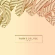 Numberline Font. Un proyecto de Dirección de arte, Ilustración y Tipografía de Dario Trapasso - 27.09.2015