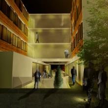 Centro Sociosanitario en Cabueñes. Un proyecto de Diseño, 3D, Arquitectura, Arquitectura interior y Diseño de interiores de Alejandro Mazuelas Kamiruaga - 27.09.2015