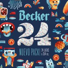 PACK 24 CERVEZA BECKER. Un proyecto de Diseño, Ilustración, Publicidad, Br, ing e Identidad, Diseño de personajes, Packaging, Diseño de producto y Vídeo de Juan Díaz-Faes - 06.10.2015