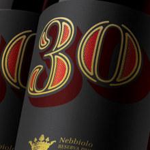 Nebbiolo 30 Aniversario. A Design, Grafikdesign und Produktdesign project by BlueTypo - 23.10.2015