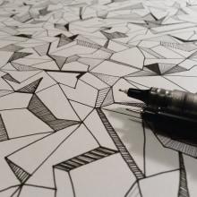 Trama geométrica | Drawing. Um projeto de Design e Ilustração de Ale Frances - 01.11.2015