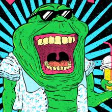Trendy Slimer. Un projet de Illustration, Design graphique , et Sérigraphie de Eneri Mateos - 02.11.2015