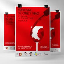 CARTEL - Festival de Cine y Vino La Solana 2015. A Design, and Graphic Design project by Concepción Domingo Ragel - 11.08.2015