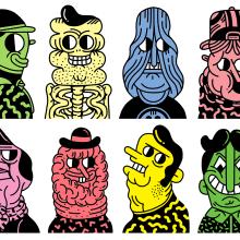 MURAL ARENAS MOVEDIZAS (GIJÓN).. Un proyecto de Ilustración, Diseño de personajes, Pintura y Cómic de Juan Díaz-Faes - 10.11.2015