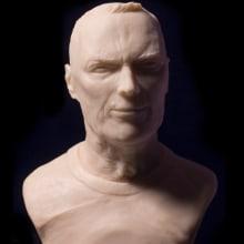 Busto miniatura 1/6 de Clint Eastwood. Un proyecto de Diseño de personajes, Escultura y Diseño de juguetes de Manuel Barroso Parejo - 22.11.2015