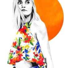 Orange. Un proyecto de Diseño, Ilustración, Moda y Bellas Artes de Lucía Paniagua - 24.11.2015
