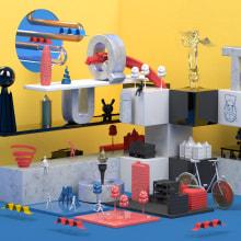 Mi Proyecto del curso Dirección de Arte con Cinema 4D . A 3D, Art Direction, Graphic Design, and Set Design project by Gustavo Castellanos - 11.30.2015