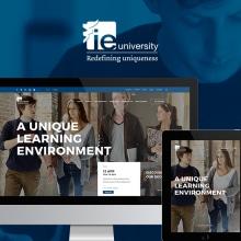 IE University Responsive Website. Un proyecto de Diseño, Dirección de arte, Arquitectura de la información, Diseño de la información, Diseño interactivo, Diseño Web y Desarrollo Web de Redbility - 30.06.2015