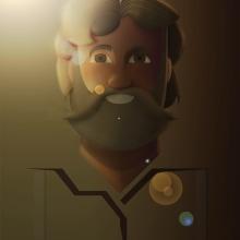 Grizzly Adams. Un proyecto de Diseño, Ilustración, Diseño de personajes y Diseño gráfico de Alejandro Mazuelas Kamiruaga - 15.11.2015