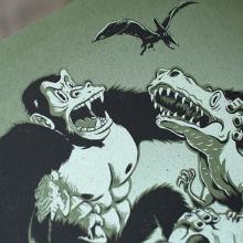 King Kong. A Design von Figuren, Illustration und Siebdruck project by La Trastería - 09.12.2015