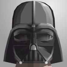 Star Wars Helmet. Un proyecto de Diseño, Ilustración, Diseño de personajes, Diseño gráfico y Cómic de Alejandro Mazuelas Kamiruaga - 17.12.2015
