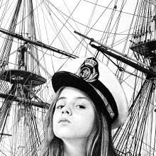 The girl who wanted to sail the world. A H, werk, Bildende Künste und Illustration project by Pablo Jurado Ruiz - 20.12.2015