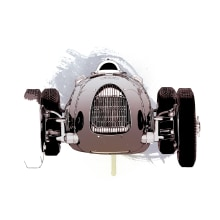 Audi Auto Union Type C. Un proyecto de Diseño gráfico e Ilustración de Óscar Lloréns - 22.12.2015
