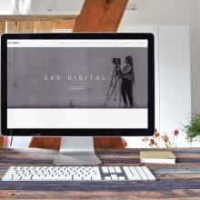 Diseño web corporativa para Shu Digital Art & Design. Um projeto de Web design de Sara Palacino Suelves - 07.01.2016