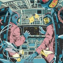 Sagan Álbum Cover. Un proyecto de Ilustración, Música, Audio, Dirección de arte, Diseño gráfico, Packaging y Cómic de Ink Bad Company - 12.01.2016