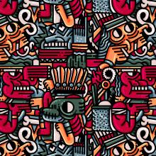 Pattern Design analógico y digital; MI PROYECTO FINAL.. Un proyecto de Diseño, Ilustración, Diseño de personajes, Moda, Packaging y Cómic de Juan Díaz-Faes - 18.01.2016