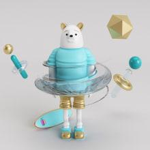 Marcelo, mi personaje del curso, espero que os guste! :D. Un proyecto de 3D, Diseño gráfico y Diseño de juguetes de gonzzzalo - 20.01.2016