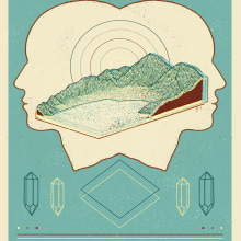 Sophie´s  Earthquake Gig Poster. A Design & Illustration project by Dani Cambeiro - 09.14.2015