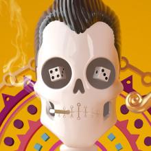 Día de muertos con Cinema 4D. A 3D, Character Design, and Graphic Design project by David Comerón - 01.24.2016