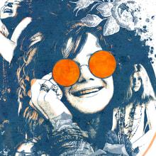 Yorokobu // Rock´n´Draw / Janis Joplin. Un proyecto de Ilustración, Música y Audio de Oscar Giménez - 10.02.2016