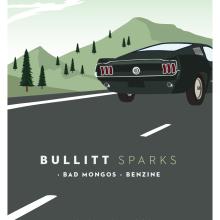 Cartel BULLITT + BAD MONGOS + BENZINE. Um projeto de Design gráfico e Ilustração de Xavier Calvet Sabala - 09.02.2016