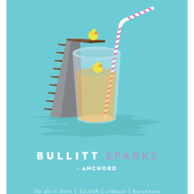 Cartel BULLITT + ANCHORD. Um projeto de Design gráfico e Ilustração de Xavier Calvet Sabala - 15.02.2016
