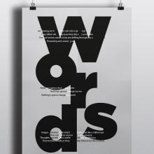 Afiches tipográficos . Un proyecto de Diseño gráfico, Tipografía y Escritura de Ropi Mattos - 18.02.2016
