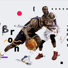 NBA / LeBron James. Um projeto de Ilustração, Direção de arte e Design gráfico de Adolfo Correa - 22.02.2016