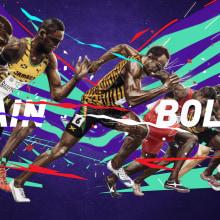 Usain Bolt. Um projeto de Ilustração, Direção de arte, Design editorial e Design gráfico de Adolfo Correa - 22.02.2016