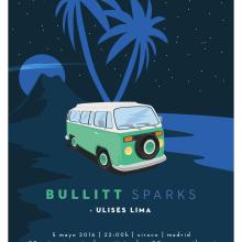 Cartel BULLITT + ULISES LIMA. Um projeto de Design gráfico e Ilustração de Xavier Calvet Sabala - 06.03.2016