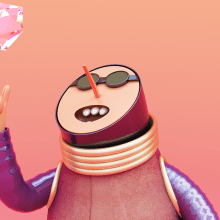 Mi Proyecto del curso: Diseño de personajes en Cinema 4D: del boceto a la impresión 3D. Un progetto di Design, Illustrazione, 3D, Character Design , e Product Design di Víctor Montes - 08.03.2016