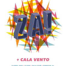 Cartel Za! + Cala Vento. Um projeto de Design gráfico e Ilustração de Xavier Calvet Sabala - 10.03.2016